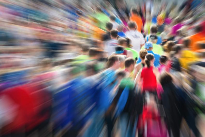 Menschenmassen beim Marathonstart